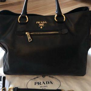 Prada large leather bag